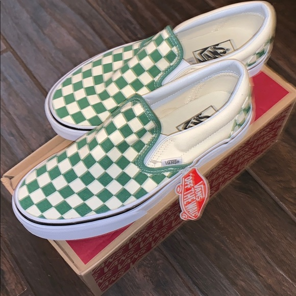 Vans Shoes | New Green And White